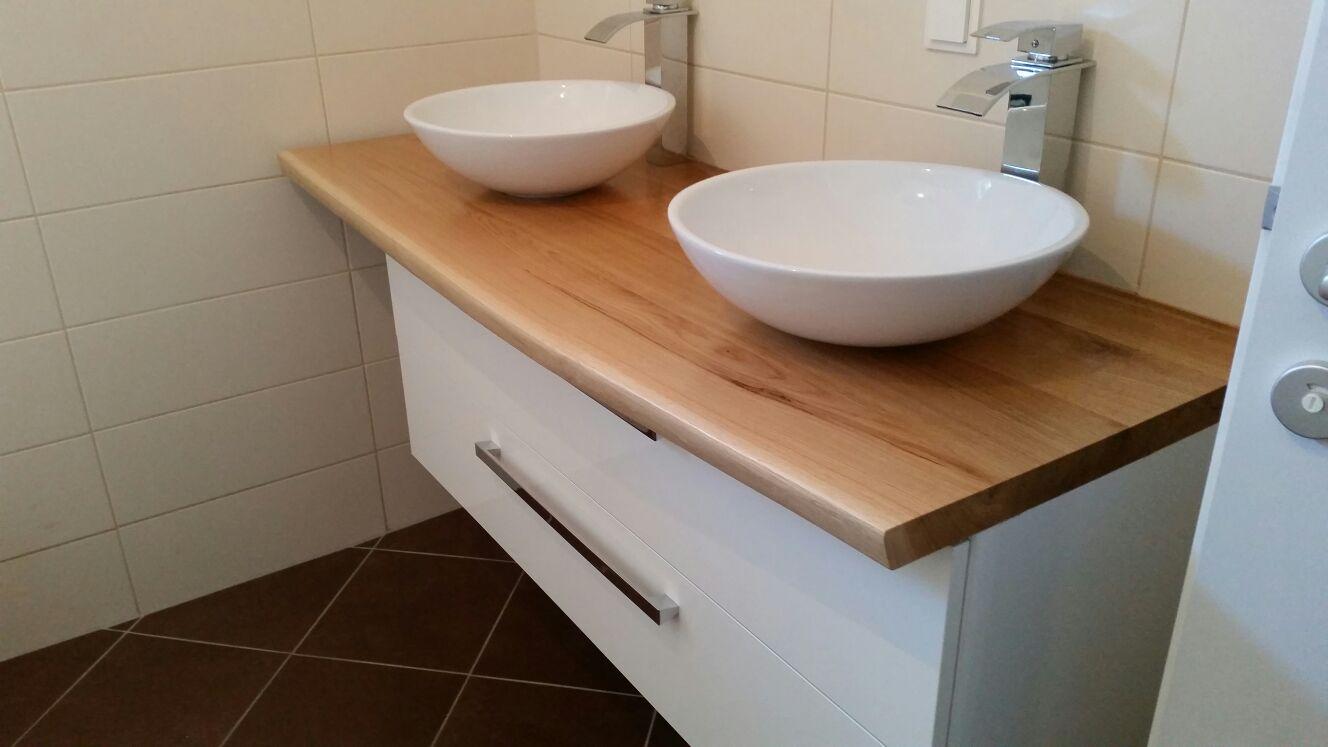 Badezimmerunterschrank aus Eiche - Massiv Bioholz